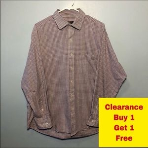 "Club Room Button Down Shirt Neck 17"" 34/35"
